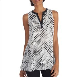 WHBM Sleeveless Asymmetrical Tiered Tunic Top S
